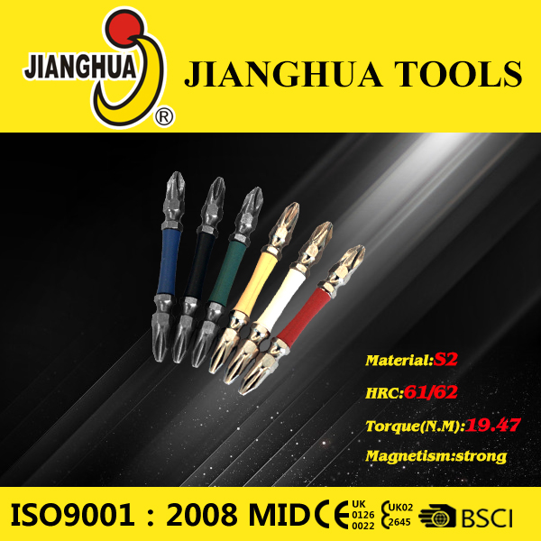 Screwdriver bits with colorful rubber