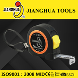 ABS measuring tape with colorful chromed rings around logo